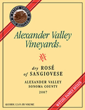 dry Rose of Sangiovese