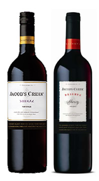 Jacob's Creek Shiraz and Reserve Shiraz