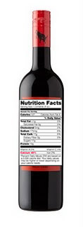 Wine Nutrition Label